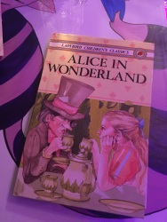 Alice in Wonderland books on every table