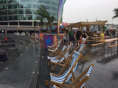 Nothing like lounging in some deck chairs in the rain