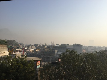View from our hostel over New Delhi